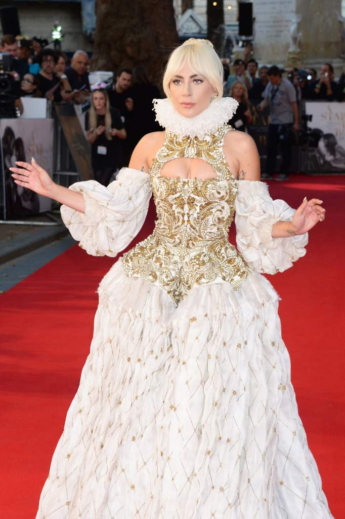 This image has an empty alt attribute; its file name is lady-gaga-alexander-mcqueen-dress-star-born-premiere.jpg